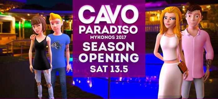 Line up 2017 Cavo Paradiso